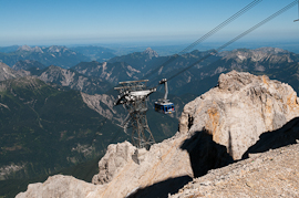 Cable Car up to the Top of the Zugspitze